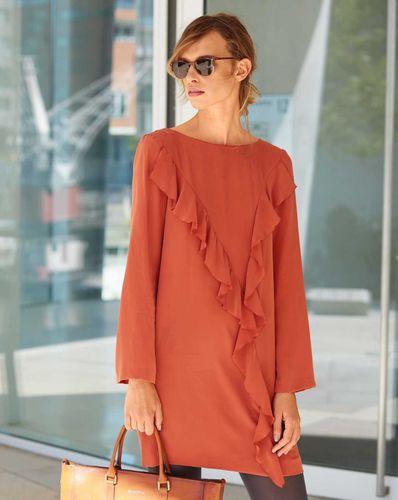 E-wykrój: Sukienka z szeroką falbaną