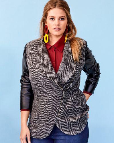 E-wykrój: Wełniany żakiet damski o kroju ramoneski