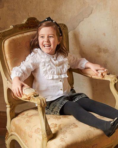 E-wykrój: Bluzka dziewczęca z falbankami