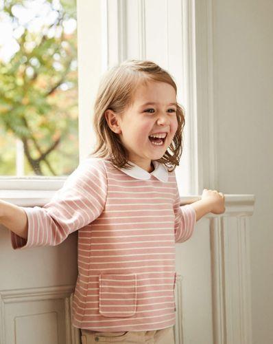 E-wykrój: Bluzka z kołnierzykiem dla dziewczynki
