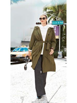 E-wykrój: Letni płaszcz z raglanowymi rękawami i kapturem