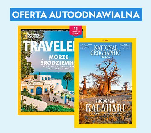 AUTOODNAWIALNA KWARTALNA PRENUMERATA magazynów National Geographic i Traveler
