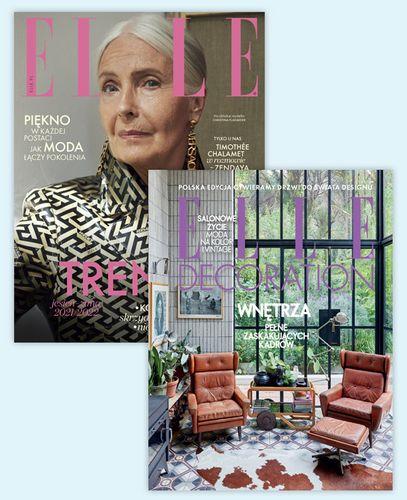 Pakiet rocznych prenumerat Elle + Elle Decoration