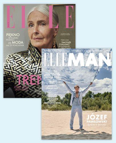 Pakiet rocznych prenumerat Elle + Elle Man