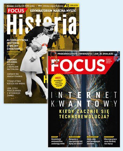 Roczna prenumerata magazynu Focus + Focus Historia