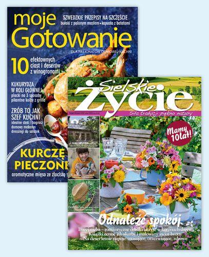 Roczna prenumerata pakietu magazynów Sielskie Życie i Moje Gotowanie