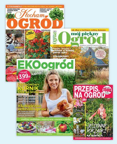 Roczna prenumerata Mój Piękny Ogród + Kocham Ogród + Przepis na Ogród + Ekoogród
