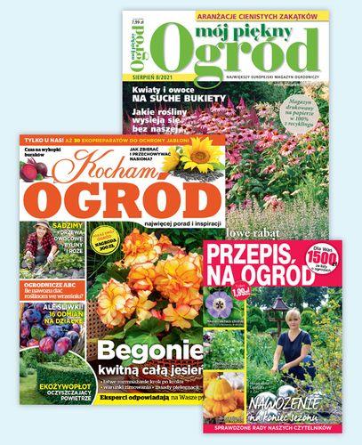Roczna prenumerataMój Piękny Ogród + Kocham Ogród + Przepis na Ogród