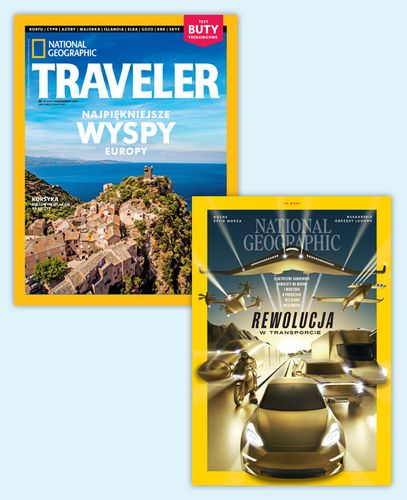 Pakiet rocznych prenumerat National Geographic + NG Traveler