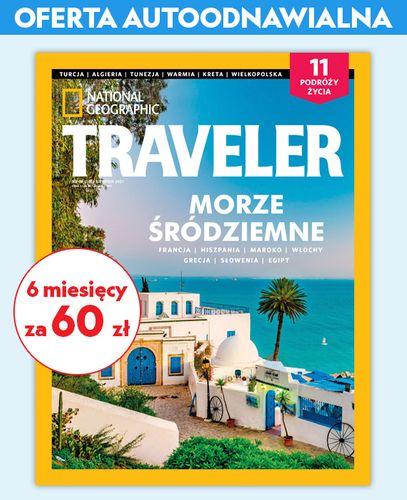 Autoodnawialna półroczna prenumerata magazynu Traveler