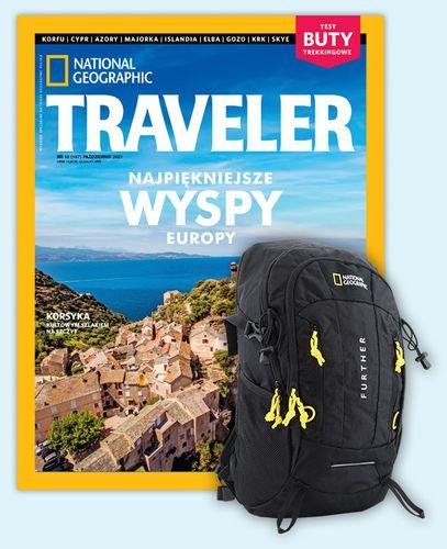 Roczna prenumerata TRAVELERA z plecakiem turystycznym NG DESTINATION