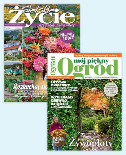 Pakiet rocznych prenumerat magazynów Sielskie Życie i Mojego Pięknego Ogrodu!