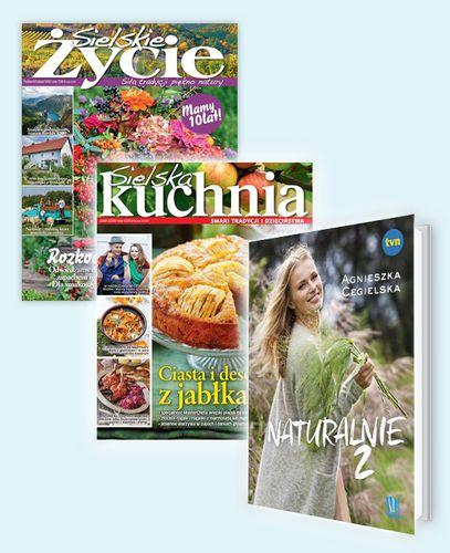 ROCZNA PRENUMERATA MAGAZYNÓW Sielskie Życie i Sielska kuchnia z książką: NATURALNIE 2!